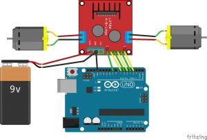 use L298N and motor driver module with this driver module you can run either 2 DC motors or a single